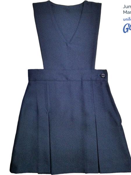 Jumper vestido uniforme escolar con logo