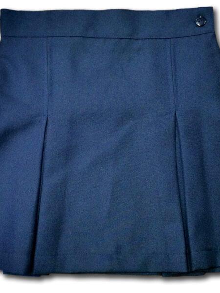 Falda uniforme escolar madres golden pliegues frente poliester