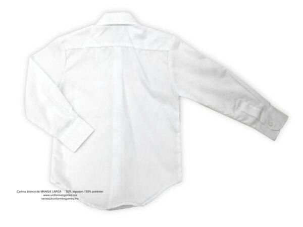 camisa gomez manga larga detras