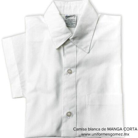 camisa blanca manga corta uniformes Gomez