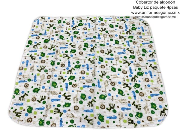 cobertor para bebe algodón paquete 4 piezas Baby Liz muestras