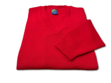 suéter cerrado cuello V uniforme escolar