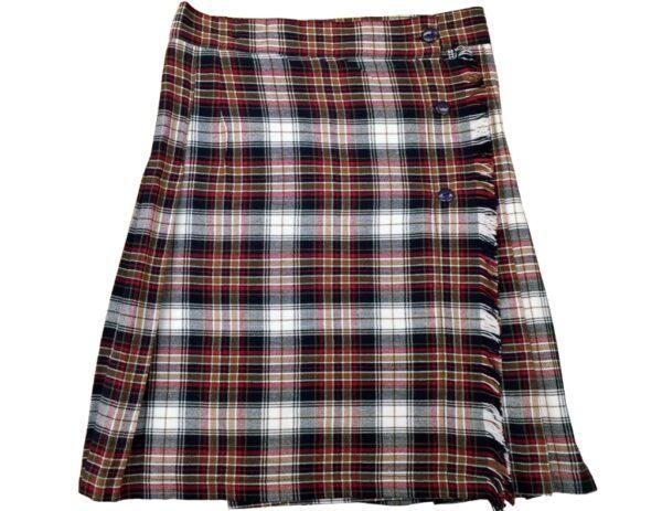 falda escocesa tela cuadros modelo Gómez B018 COLEGIAL